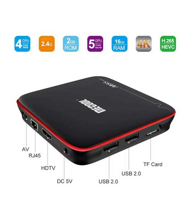 Mecool M8S PRO W (S905W/2GB/16GB) 4K WiFi Android 7.1 TV Box