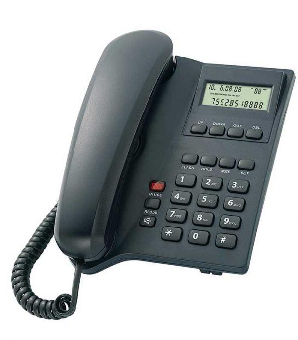 Powertech Elly Σταθερό Ενσύρματο Τηλέφωνο - Μαύρο