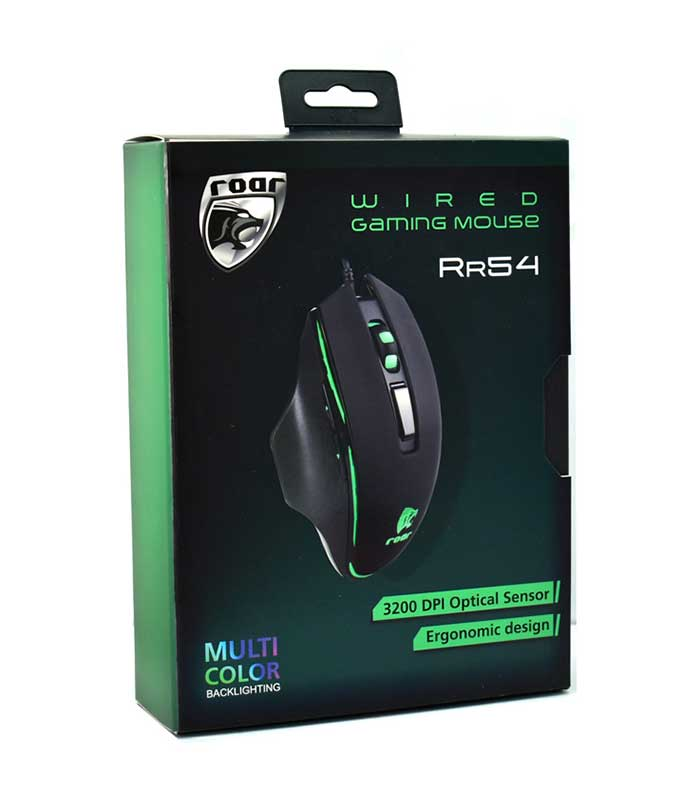 Roar RR54 Gaming Ενσύρματο Ποντίκι RGB 3200 DPI