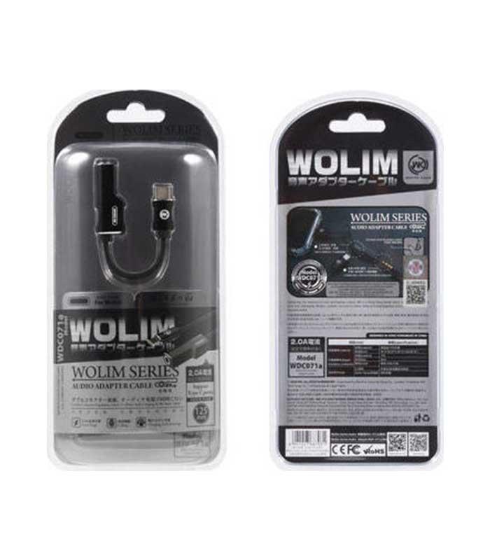 WK WDC-071a Αντάπτορας USB Type-C σε 3.5mm / USB Type-C Female - Μαύρο