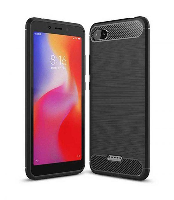 Carbon Θήκη Flexible TPU για Xiaomi Redmi 6A - Μαύρο
