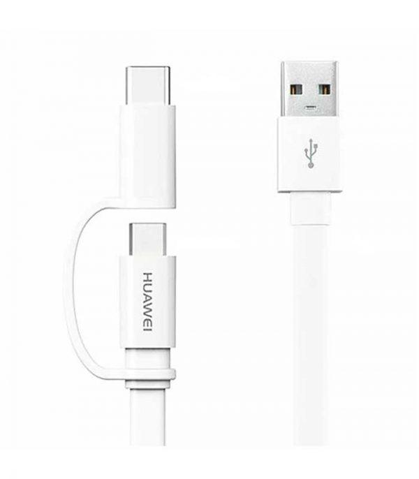 Huawei AP55S Καλώδιο USB σε Micro USB/USB Type-C 1,5m 2.0A - Λευκό