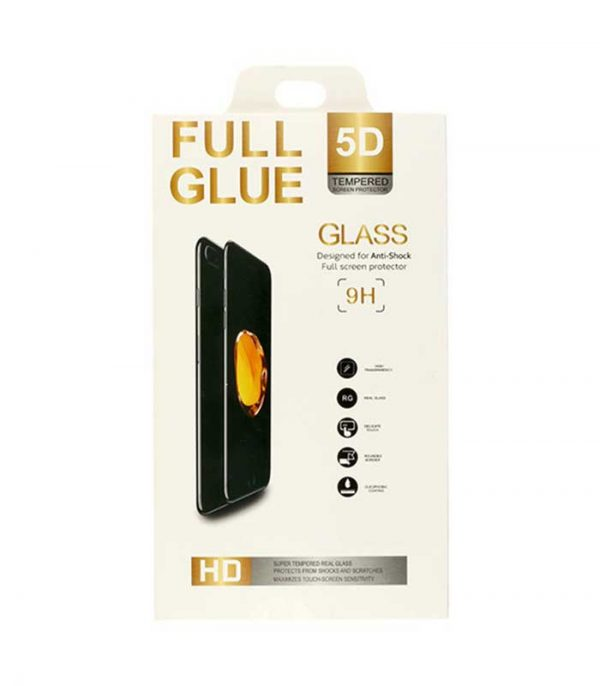 OEM Full Glue Tempered Glass 5D BOX για iPhone XS Max - Μαύρο