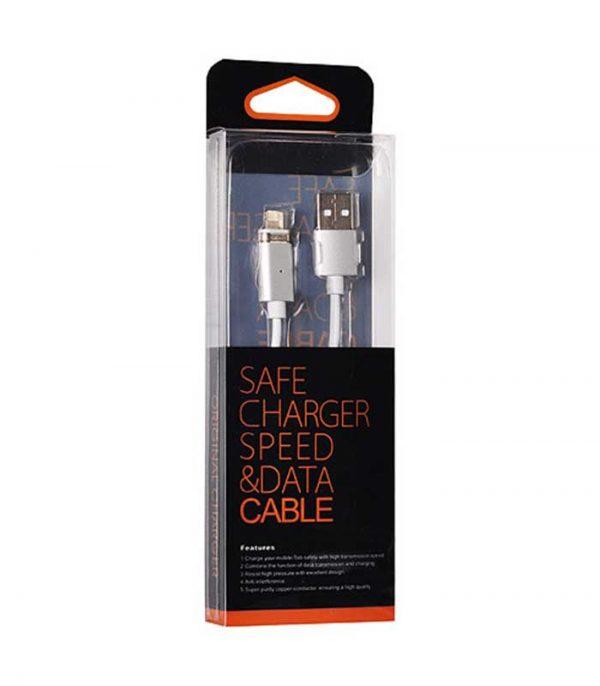 OEM Magnetic Καλώδιο USB σε Lighting για iPhone 5/6/7/8/X 1m - Ασημί