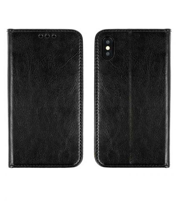 OEM Special Real Leather Smart Book Θήκη για Xiaomi Redmi Go - Μαύρο