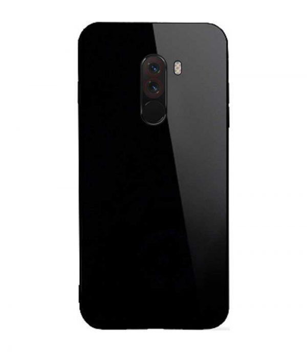 OEM TPU Glass Θήκη για Xiaomi Pocophone F1 - Μαύρο