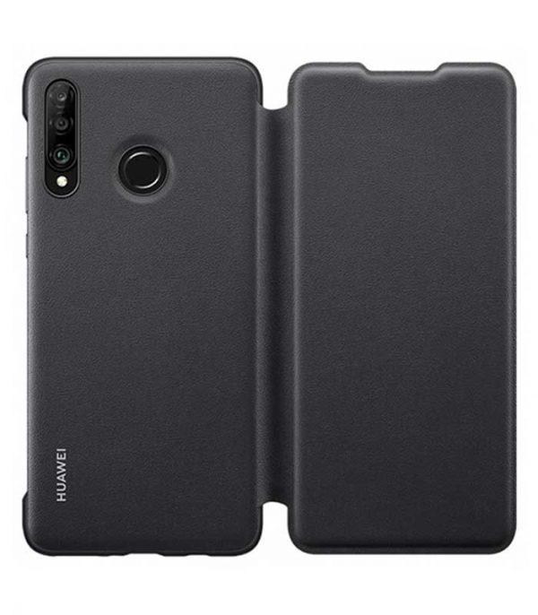 Original Wallet Flip Cover Θήκη για Huawei P30 - Μαύρο