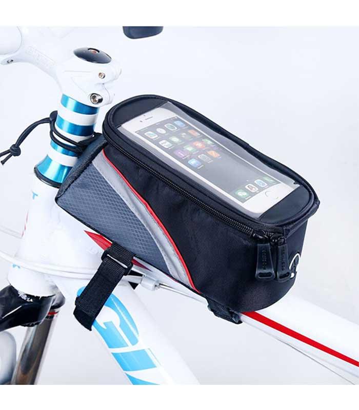 """Roswheel Τσαντάκι Ποδηλάτου για Κινητά έως 5.7"""" με Υποδοχή για Ακουστικά - Μαύρο"""