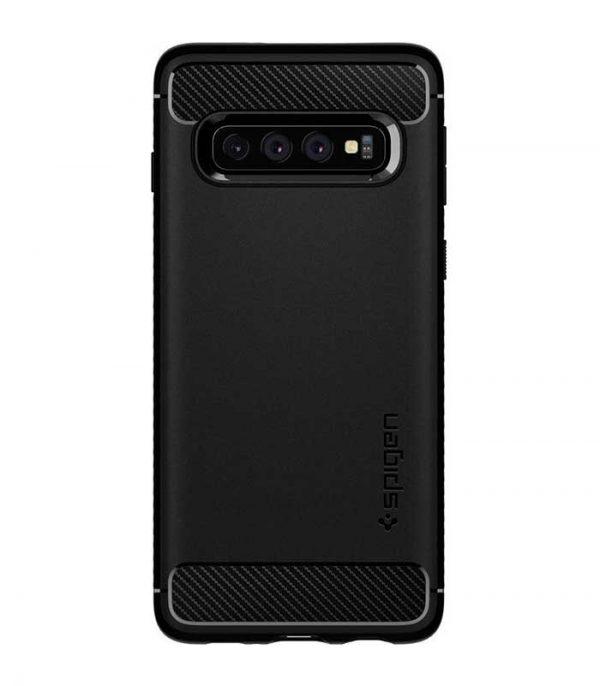 Spigen Rugged Armor Θήκη για Samsung Galaxy S10 - Μαύρο