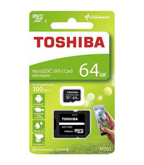 Toshiba M203 MicroSDXC Card 64GB U1 με αντάπτορα