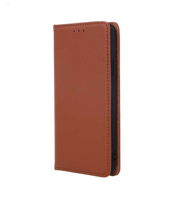 OEM Real Leather Book Θήκη για Samsung Galaxy A20e - Καφέ