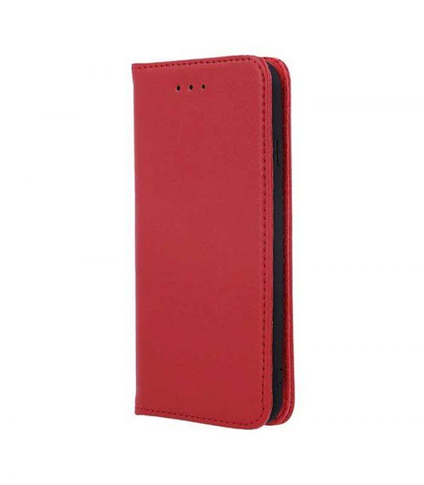 OEM Real Leather Book Θήκη για Samsung Galaxy A20e - Κόκκινο