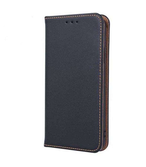 OEM Real Leather Book Θήκη για Samsung Galaxy A20e - Μαύρο