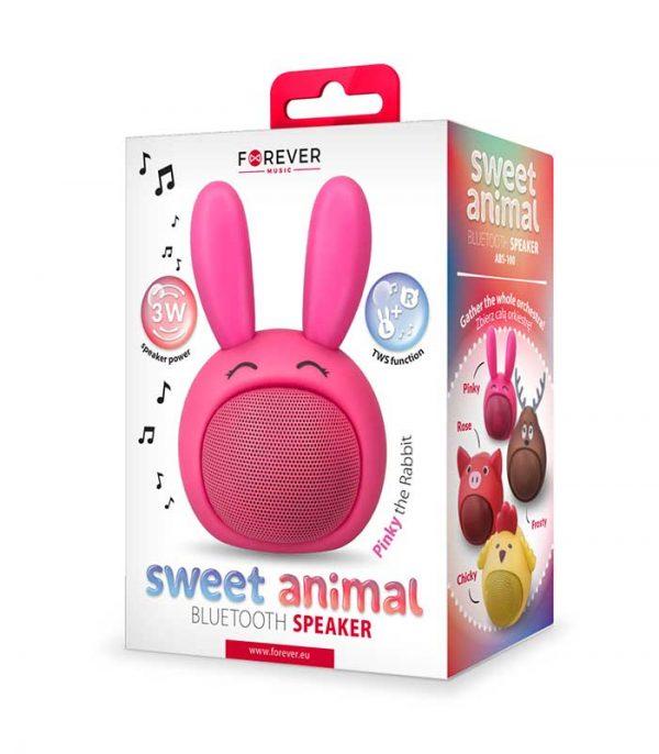 Forever Sweet Animal Rabbit Pinky ABS-100 Bluetooth Speaker