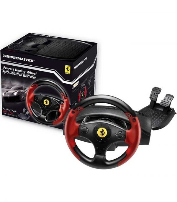 Thrustmaster Ferrari Racing Wheel Red Legend (PS3/PC) - Μαύρο/Κόκκινο