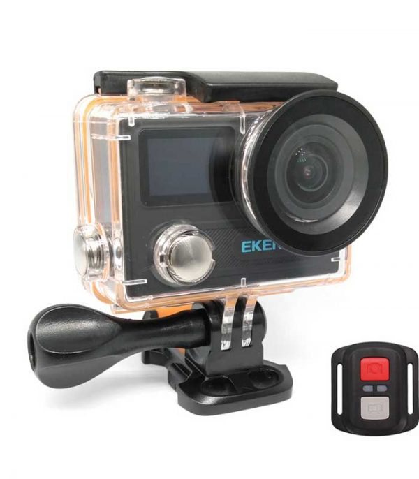 EKEN Action Cam H8R, UltraHD 4K 30fps, 14MP, WiFi, Waterproof, Black Πλήρες πακέτο αξεσουάρ