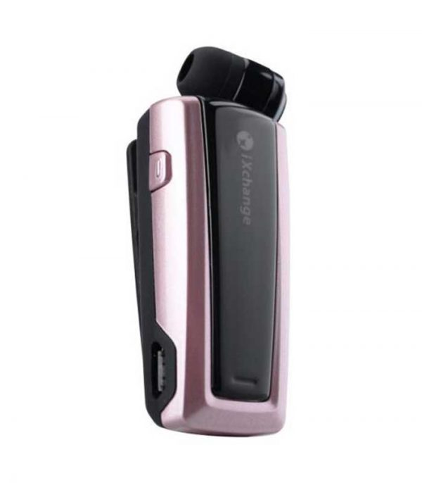 iXchange UA24ST Retractable Bluetooth mini Headset - Ροζ Χρυσό