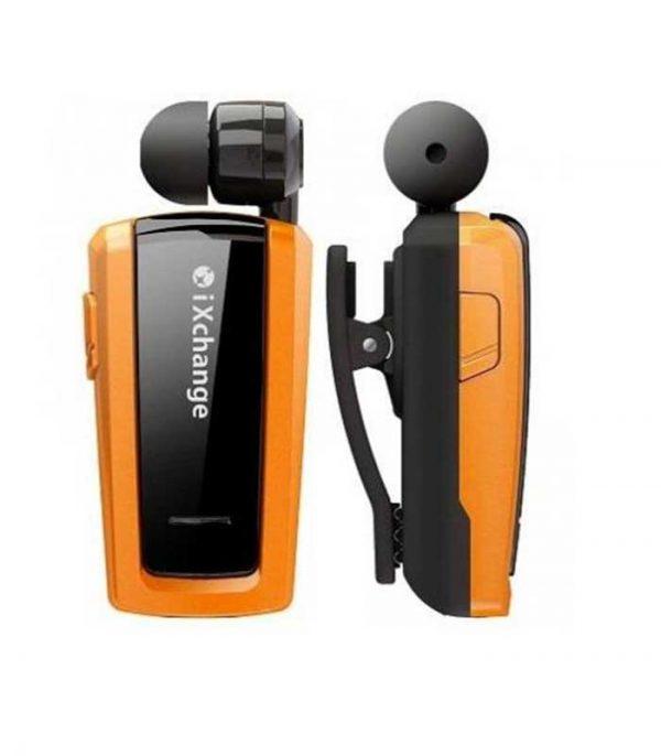 iXchange UA25XB Retractable Bluetooth Mini Headset - Πορτοκαλί