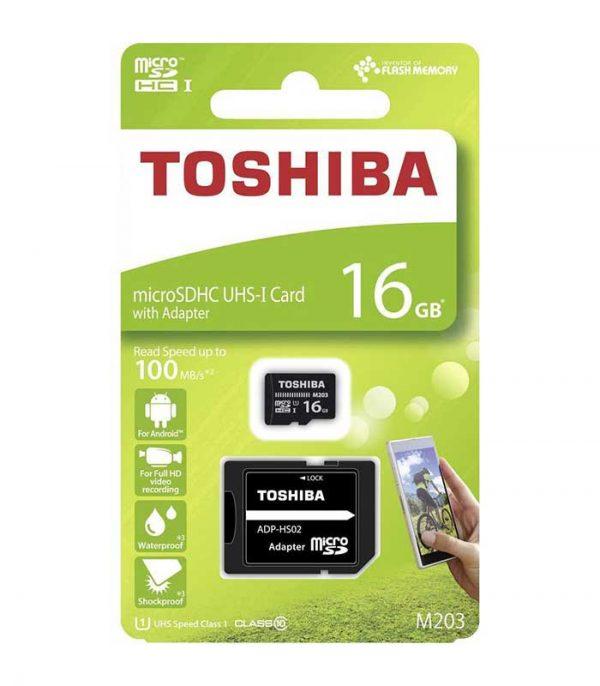 Κάρτα Μνήμης Toshiba microSDHC 16GB M203 UHS-I | U1 με SD αντάπτορα