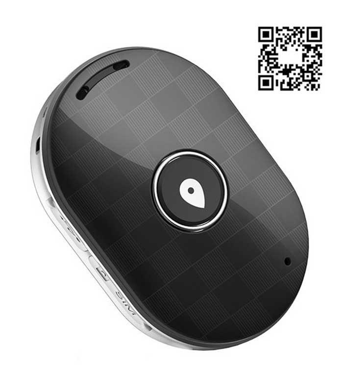 Mini GPS Eντοπισμού Θέσης Q60, 400mAh, Αδιάβροχο - Μαύρο