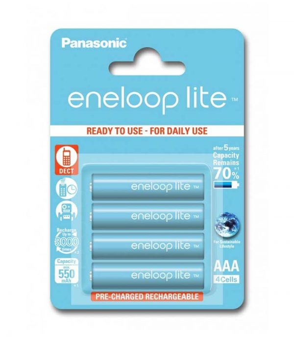 Panasonic Eneloop Lite AAA 550mAh - (4τμχ)