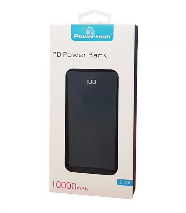 Powertech PT-764 Powerbank 10000mAh, 3x USB, QC - Μαύρο
