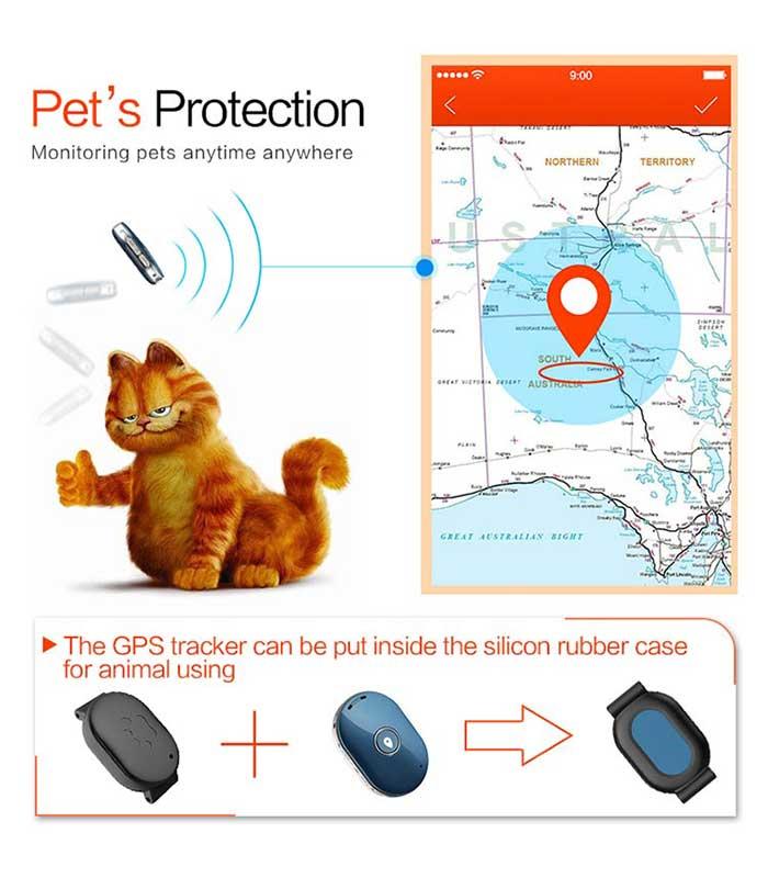 Θήκη κολάρου για κατοικίδια, για τα GPS Tracker Q60 - Μαύρο