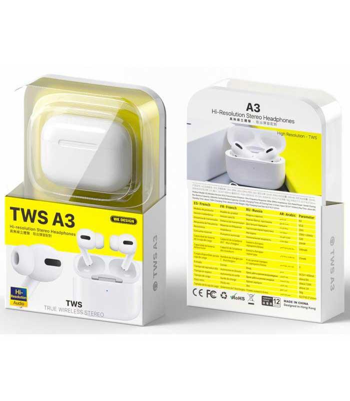 WK TWS A3 Earphone - Λευκό