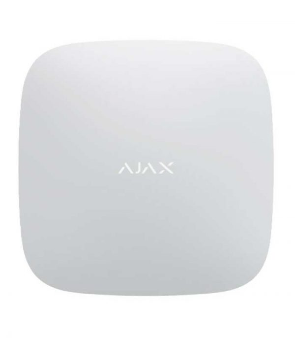 Ajax Hub 2 Κεντρική μονάδα του συστήματος με οπτική επιβεβαίωση συναγερμού - Λευκό