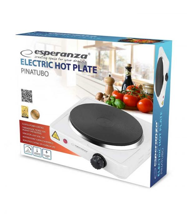 Esperanza EKH002W Pinatubo Ηλεκτρικό Μάτι Κουζίνας – Λευκό
