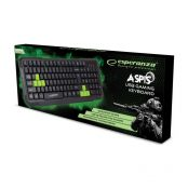 Esperanza Aspis EGK102G Gaming Ενσύρματο Πληκτρολόγιο - Πράσινο